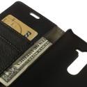 LG G3 S Portfel Etui – PU Skóra Czarne