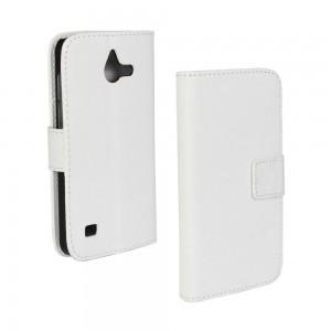 Huawei Ascend Y550 - etui na telefon i dokumenty - białe