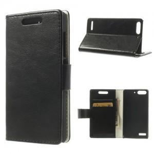 Huawei Ascend G6 - etui na telefon i dokumenty - CH czarne