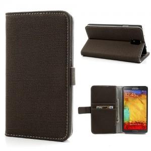 Samsung Galaxy Note 3 - etui na telefon i dokumenty - Materiał jasnobrązowe