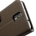 Samsung Galaxy Note 3 Etui – Materiał Jasnobrązowy