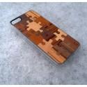 Apple iPhone 5 / 5S Etui Drewno Puzzle