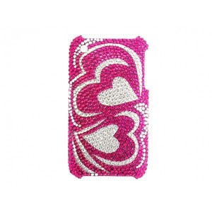 Apple iPhone 3G / 3GS - etui na telefon i dokumenty - Glitter Serce