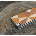 Apple iPhone 4 / 4S Etui Drewno Mozaika