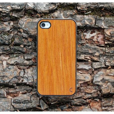 Apple iPhone 4 / 4S Etui Drewno Merbau