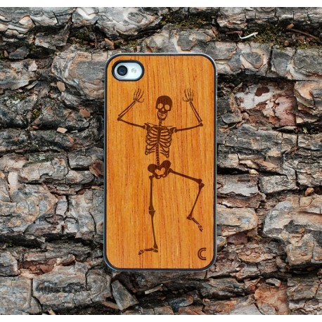 Apple iPhone 4 / 4S Etui Drewno Szkielet
