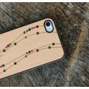 Apple iPhone 4 / 4S Etui Drewno Diamenty - Linie