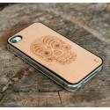 Apple iPhone 4 / 4S Etui Drewno Diamenty - Czaszka