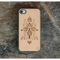 Apple iPhone 4 / 4S Etui Drewno Diamenty - Ornament