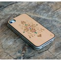 Apple iPhone 4 / 4S Etui Drewno Diamenty - Ornament