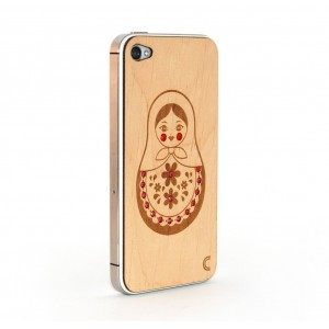 Apple iPhone 4 / 4S Skin Drewno Diamenty - Matrioszka