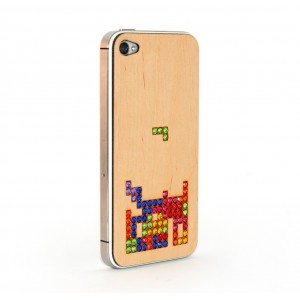 Apple iPhone 4 / 4S Skin Drewno Diamenty - Tetris
