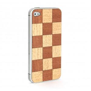 Apple iPhone 4 / 4S Skin Drewno - Szachownica