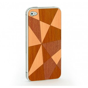 Apple iPhone 4 / 4S Skin Drewno - Mozaika