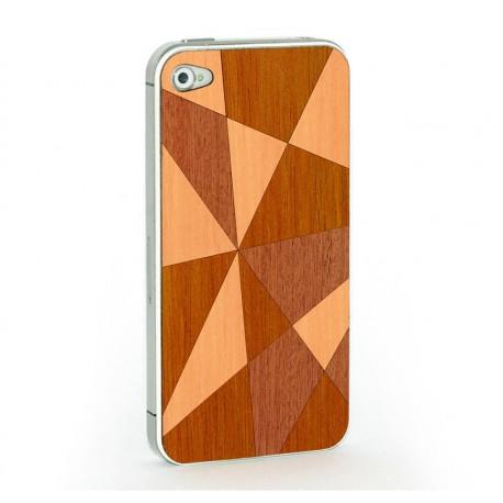 Apple iPhone 4 / 4S Skin Drewno - Mozaika