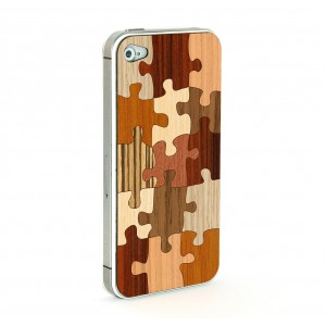 Apple iPhone 4 / 4S Skin Drewno - Puzzle V