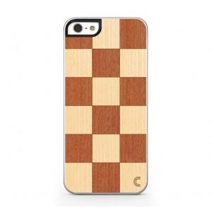 Apple iPhone 5 / 5S Etui Drewno - Szachownica