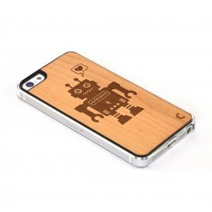 Apple iPhone 5 / 5S Etui Drewno - Robot