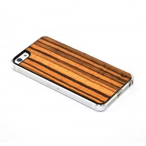 Apple iPhone 5 / 5S Etui Drewno - Zebra