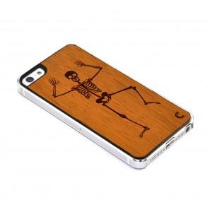 Apple iPhone 5 / 5S Etui Drewno - Szkielet