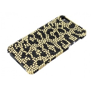 Apple iPhone 5 / 5S Etui - Diamenty Leopard