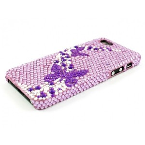 Apple iPhone 5 / 5S Etui - Diamenty Motyle