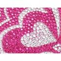 Apple iPhone 5 / 5S Etui - Diamenty Różowe Serca