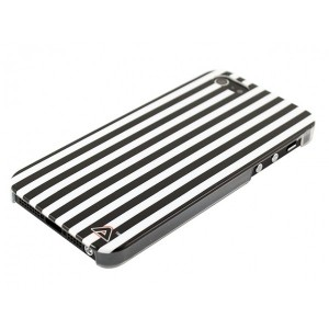 Apple iPhone 5 / 5S Obudowa – Biało Czarne Pasy
