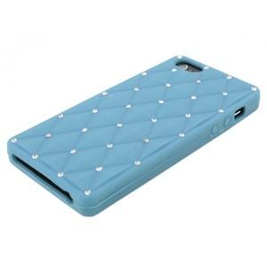 Apple iPhone 5 / 5S Etui Silikonowe Diamenty - Jasne Niebieskie