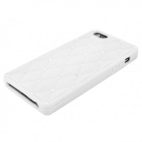 Apple iPhone 5 / 5S Etui Silikonowe Diamenty - Białe