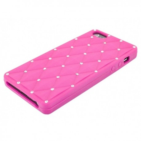 Apple iPhone 5 / 5S Etui Silikonowe Diamenty - Różowe
