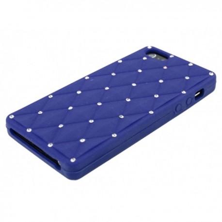 Apple iPhone 5 / 5S Etui Silikonowe Diamenty - Ciemne Niebieskie