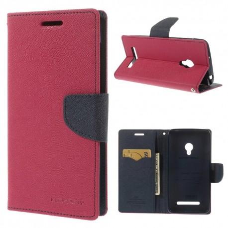 Asus Zenfone 5 - etui na telefon i dokumenty - Fancy różowe