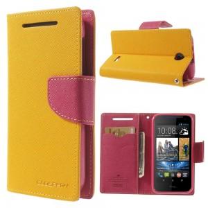 HTC Desire 310 - etui na telefon i dokumenty - Fancy żółte