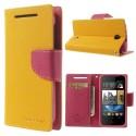 HTC Desire 310 Portfel Etui – Fancy Żółte