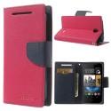 HTC Desire 310 Portfel Etui – Fancy Różowe