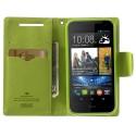 HTC Desire 310 Portfel Etui – Niebieskie