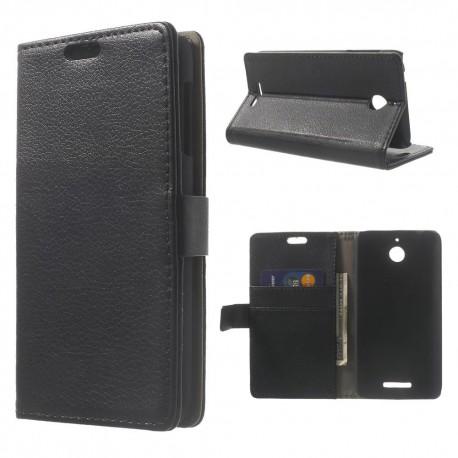 HTC Desire 510 - etui na telefon i dokumenty - Lichti czarne