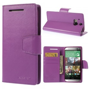 HTC One M8 - etui na telefon i dokumenty - Sonata purpurowe