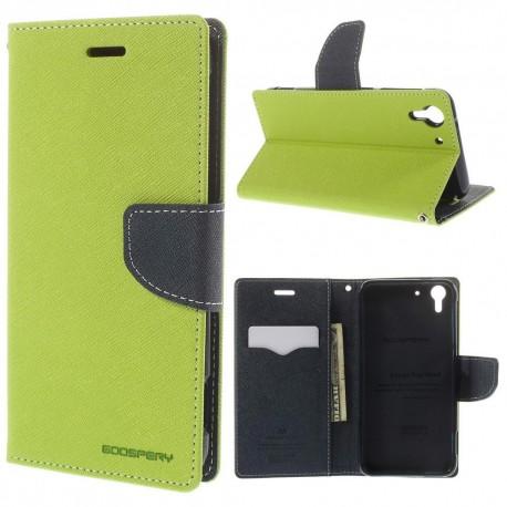 HTC Desire Eye - etui na telefon i dokumenty - Fancy zielone