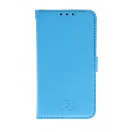 LG F60 - etui skórzane na telefon i dokumenty - Insmat niebieski