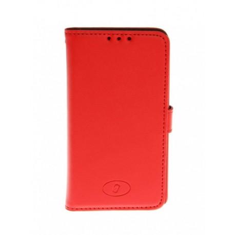 LG F60 - etui skórzane na telefon i dokumenty - Insmat czerwony