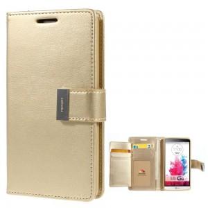 LG G3 - etui na telefon i dokumenty - Rich Diary szampan