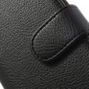 LG Optimus L9 II Portfel Etui – Czarne Litchi