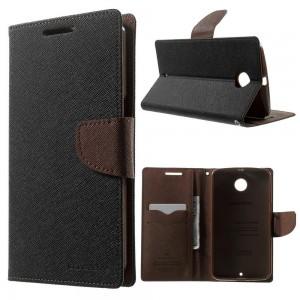 Motorola Nexus 6 - etui na telefon i dokumenty - Fancy czarne