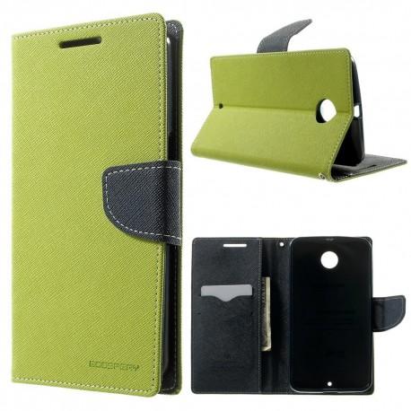 Motorola Nexus 6 - etui na telefon i dokumenty - Fancy zielone