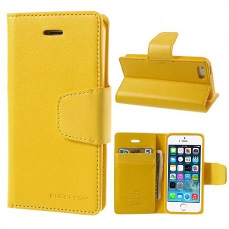 Apple iPhone 5 / 5S - etui na telefon i dokumenty - Sonata żółte
