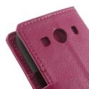 Samsung Galaxy Ace 4 Portfel Etui – Litchi Ciemny Różowy