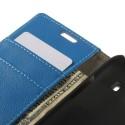 Samsung Galaxy Ace 4 Portfel Etui – Litchi Niebieski