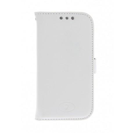 Samsung Galaxy Ace 4 - etui skórzane na telefon i dokumenty - Insmat białe
